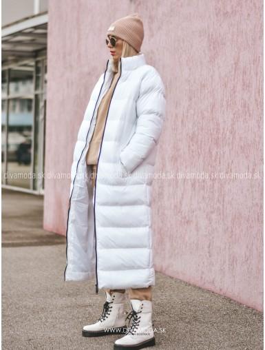 Zimná maxi bunda Verdix biela D 103