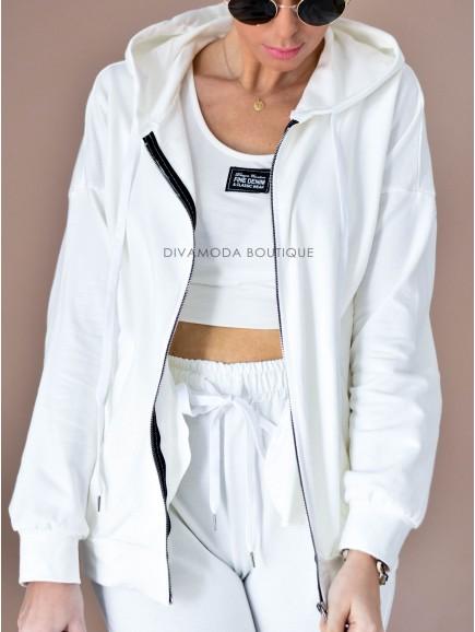 KOMPLET 3 -dielný fashion biely D 142