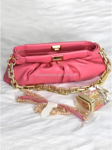 Kabelka Veneta s retiazkou pink X 1
