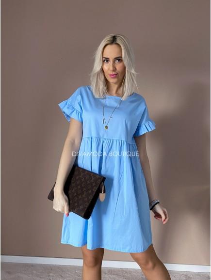 Šaty s volánikom Dortohy baby blue M 2