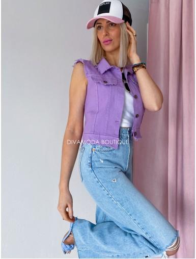 Riflová vesta poppy fialková M 57