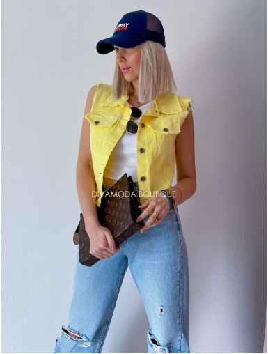 Riflová vesta poppy žltá M 57