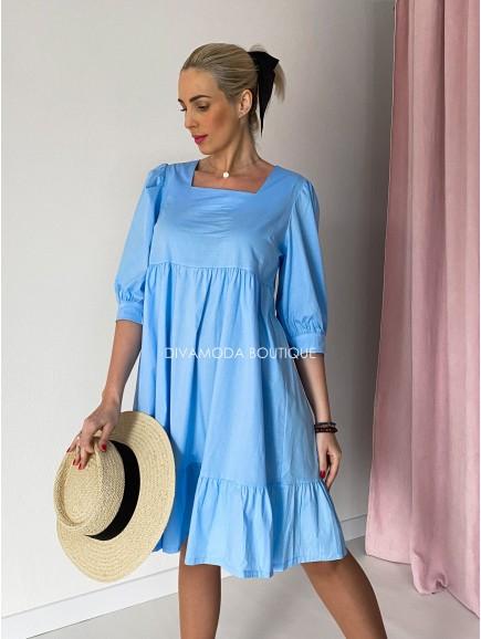 Šaty amanda modré M 87