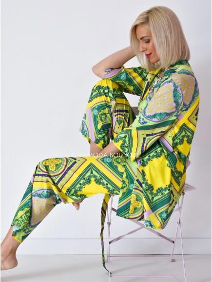 Kimono set madeline žlto-zelený M 114