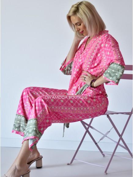 Kimono set Tautris ružový M 129