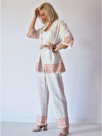Kimono set Tautris smotanový M 129