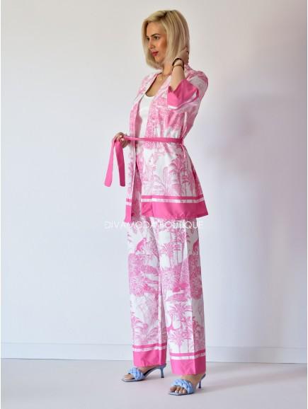 Kimono set safari ružový M 127
