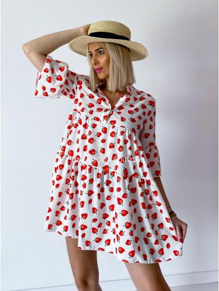 Šaty strawberry  M 145