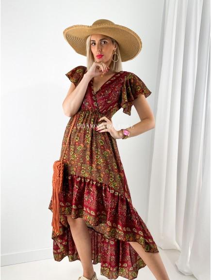 Maxi šaty marocco cinamo M 159