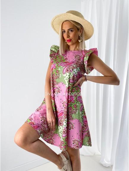 Šaty s volánmi Corina flora M 172
