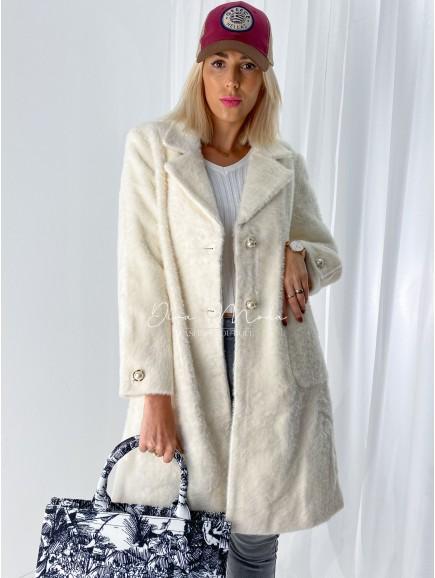 Chlpatý kabátik Perla ecru  A 75