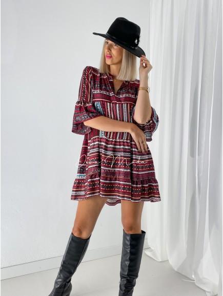 Saténové šaty Incoa bordo A 22