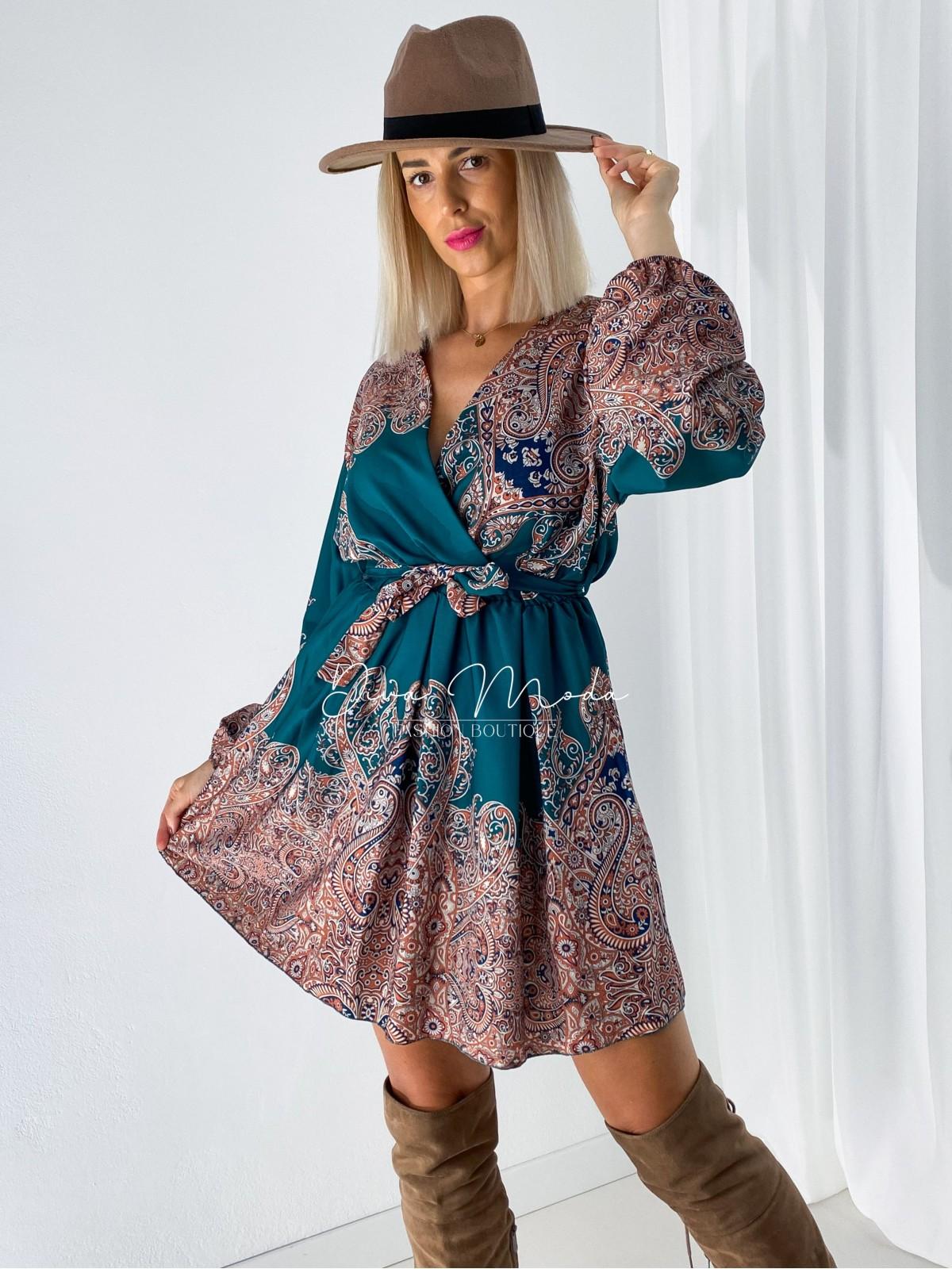 Šaty s puf rukávom Marocco zelené A 26