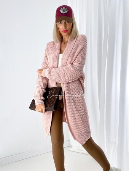 Pletený kardigan Rorie soft pink A 7