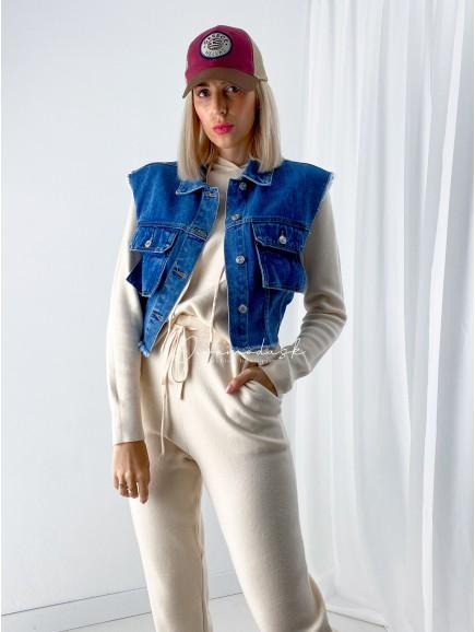 Riflová vesta Zorra modrá A 48
