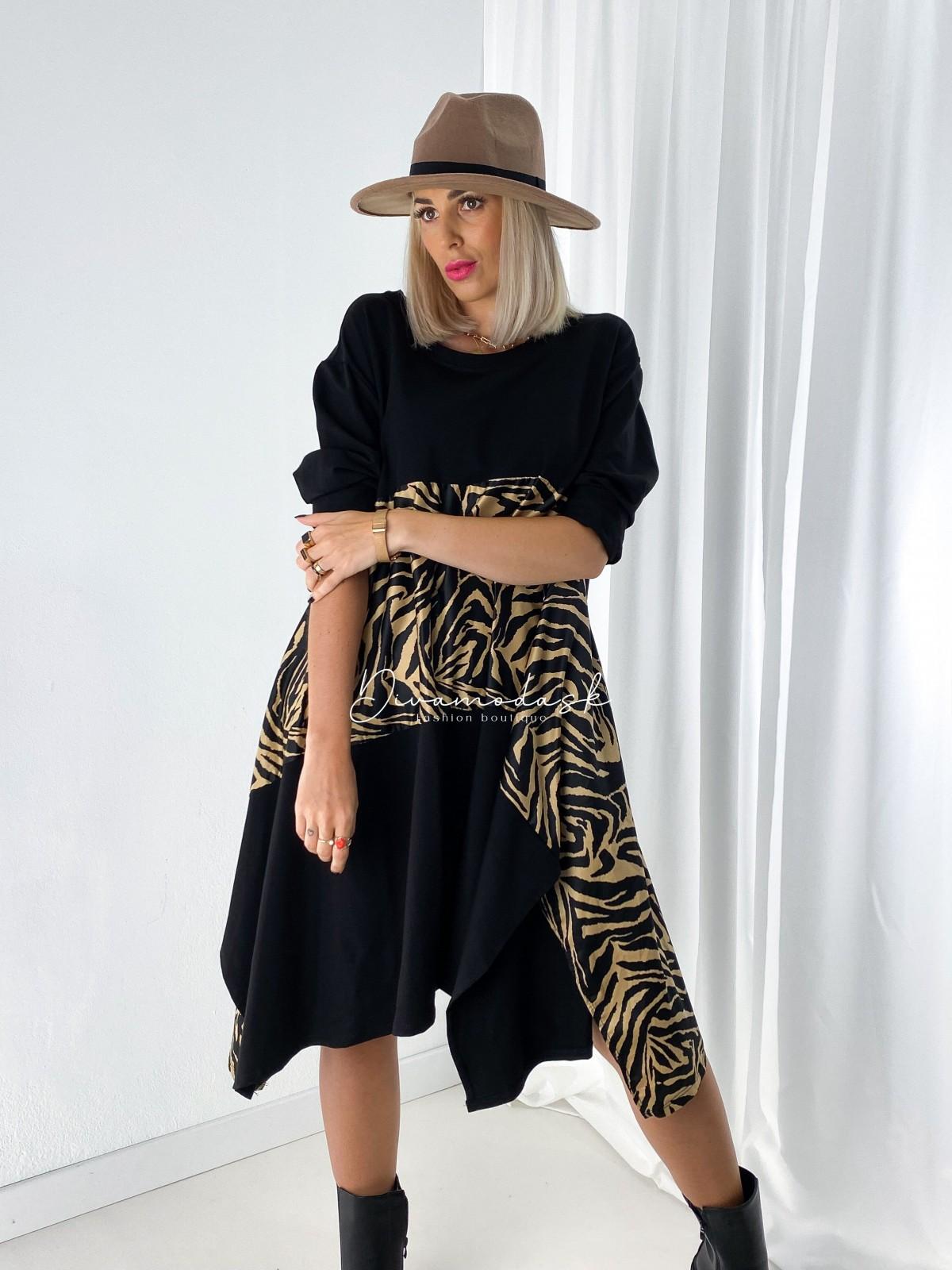Oversize šaty zebras A 102