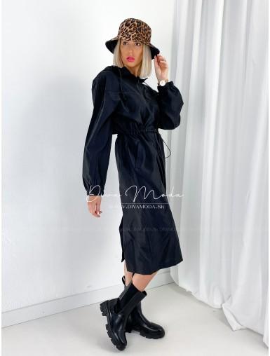 Šušťákové maxi šaty Moodas A 47