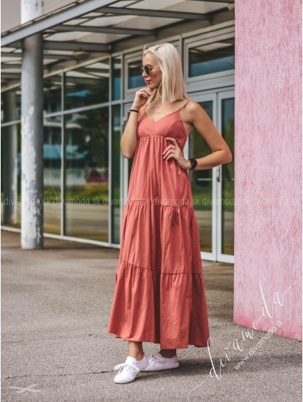 Maxi šaty na ramiena Diona B 242